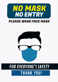 Wear Face Mask Covid-19 A1 template