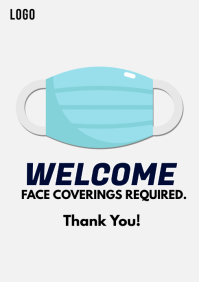 Wear Face Mask Covid-19 Instagram Post A4 template