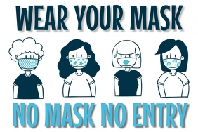 Wear Mask Banner Template