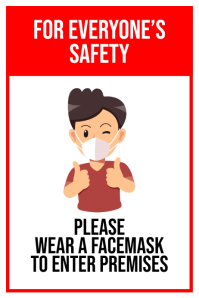 Wear Mask Before Enter Premises Póster template