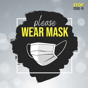 wear mask video, covid-19 video Instagram Post template