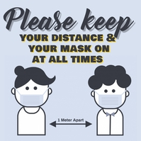 Wear masks & physical distancing template Square (1:1)