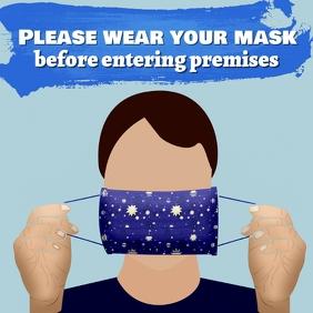 Wear masks template สี่เหลี่ยมจัตุรัส (1:1)