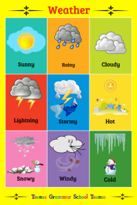 Weather Poster template