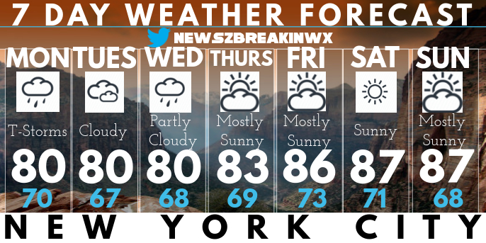 weather forecast new york template postermywall