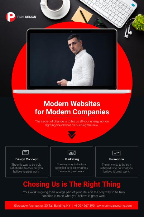 Web Design Agency Flyer Plakat template