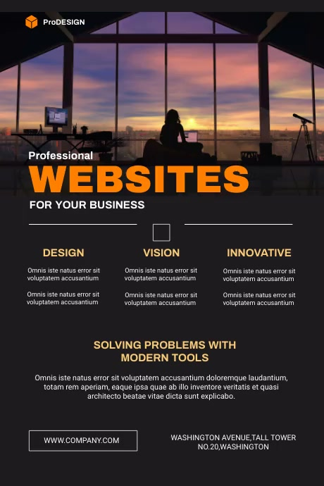 Web Design Agency Flyer 海报 template