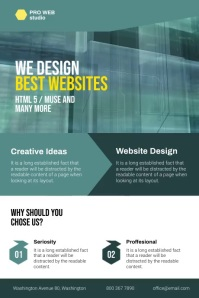 Web Design Company Flyer Cartaz template