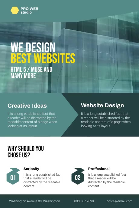 Web Design Company Flyer Poster template