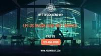 Web Design Company งานแสดงผลงานแบบดิจิทัล (16:9) template