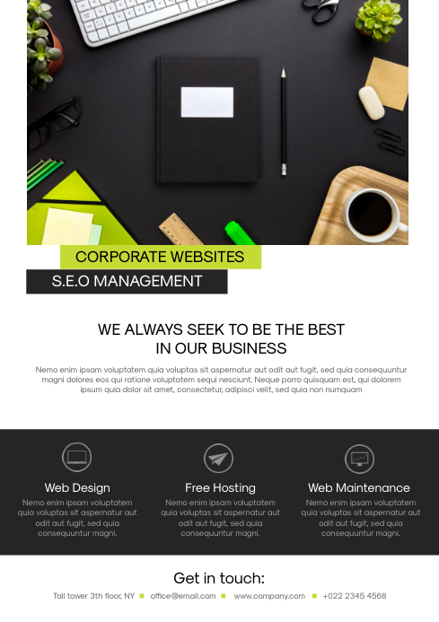 Web Design Flyer Template A4