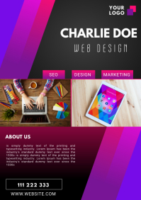 WEB DESIGN FLYER TEMPLATE