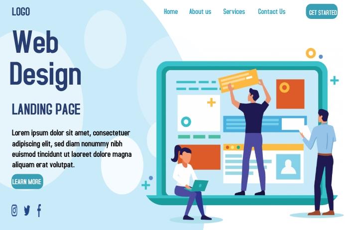 Web design Landing Page Plakkaat template