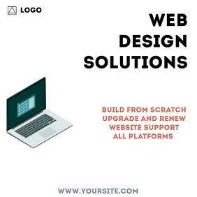 Web Design Promo Video Ad Square (1:1) template