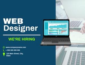Web designer hiring flyer