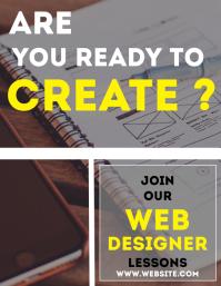 Web designer lessons flyer professional servi