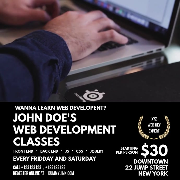 web development flyer
