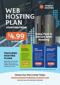 Web Hosting Flyer A4 template