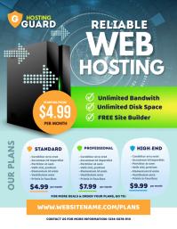 Web Hosting Flyer template
