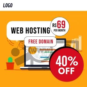 Web Hosting Promotion Ad Template Post Instagram