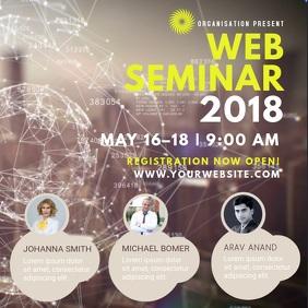 Web Seminar Square Video Template