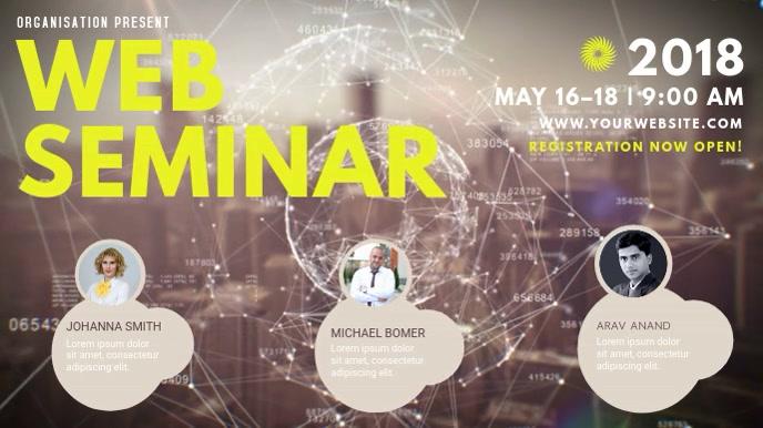 Web Seminar Video Template