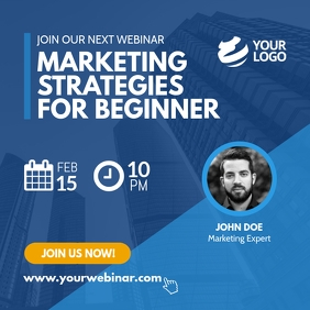 Webinar Business Marketing Instagram Post