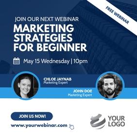Webinar Business Marketing Instagram Post
