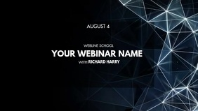 WEBINAR Facebook Cover Video (16:9) template