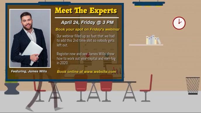 Webinar invitation video design