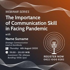 Webinar on Communication Skill Template
