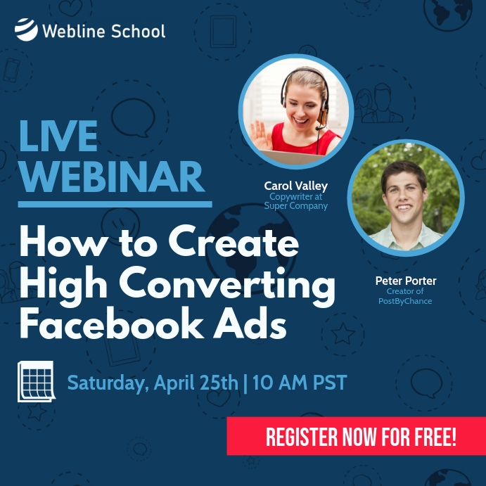 Webinar Online Course High Converting Ads Square (1:1) template