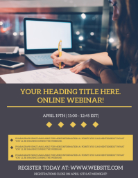 Webinar online from home template