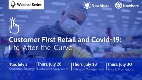 Webinar Series On Retail & Covid-19 Template Facebook Cover Video (16:9)