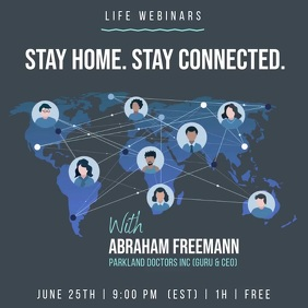 Webinar World Network Connections animation Instagram Post template