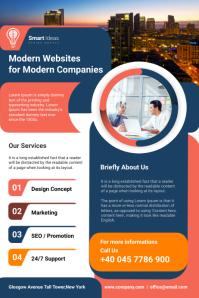 Website Design Agency Flyer Poster template