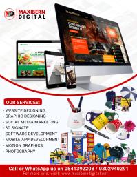 Website Design Business Flyer Volantino (US Letter) template