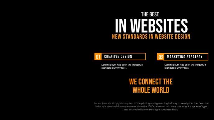 Website Design Company Service Facebook Video template