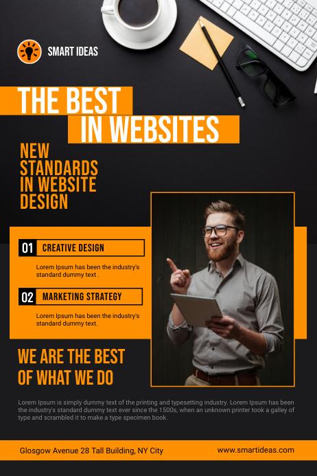 Website Design Company Service Flyer Plakat template