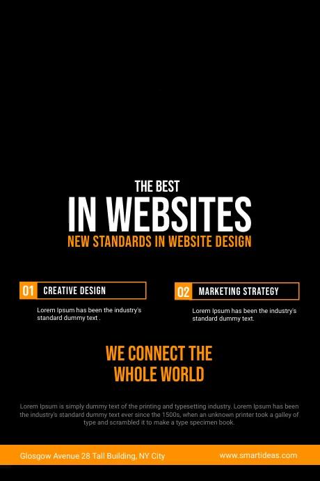 Website Design Company Service Flyer Poster template