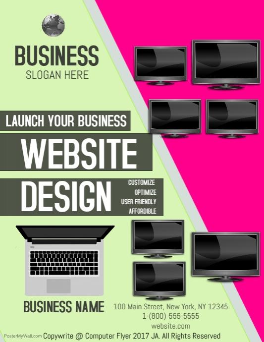 Website Design Template Postermywall