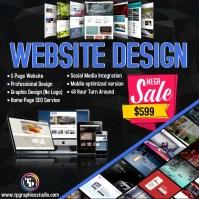 Website Design Sale Instagram Post template