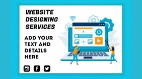 Website designing flyer งานนำเสนอ Presentation (16:9) template