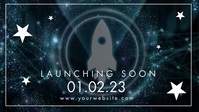 Website Launching Soon Banner Ad Facebook Cover Video (16:9) template