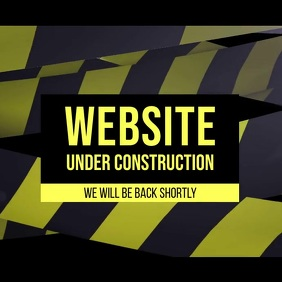Website under construction video Post Instagram template