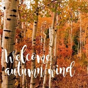 Wecome autumn Wind Carré (1:1) template