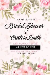 wedding, anniversary, romantic Poster template