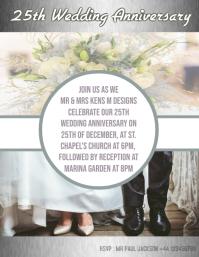 Wedding, invitation, 25, 50th celebration card