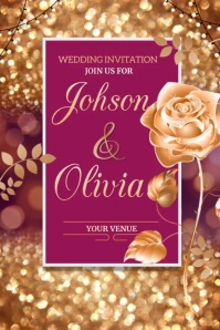 wedding ,anniversary, save the date Poster template