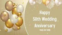 Wedding Anniversary card Facebook-Covervideo (16:9) template